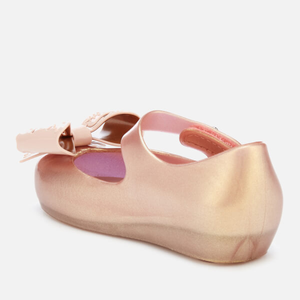 abad2218a6953 Mini Melissa Toddlers  Ultragirl Fairy Bow Ballet Flats - Rose Gold  Image 2