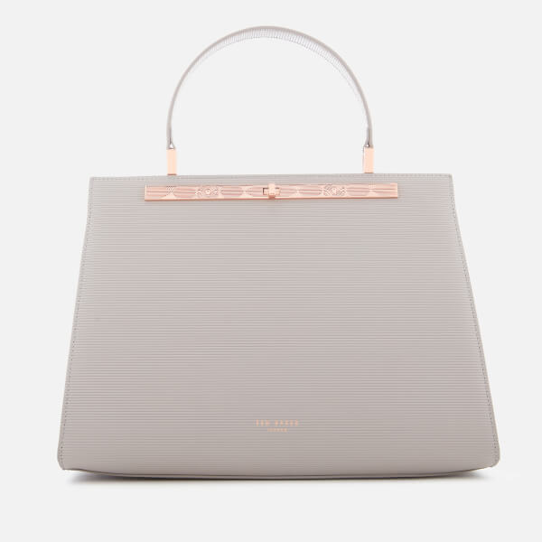 Ted Baker Women's Aliicia Twist Lock Lady Bag   Charcoal by My Bag