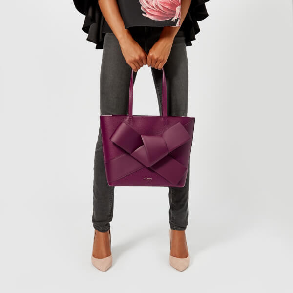 27ddbbf0fa Ted Baker Women's Alliie Giant Knot Shopper Bag - Maroon: Image 3