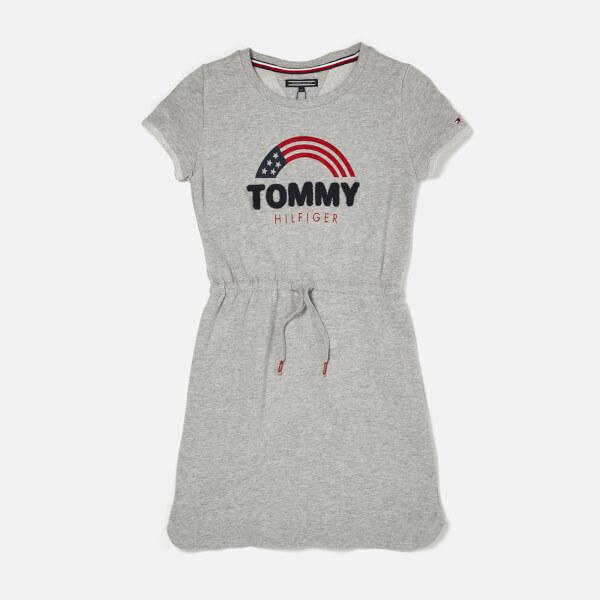 Tommy Hilfiger Girl's Sweat Shift Dress - Grey