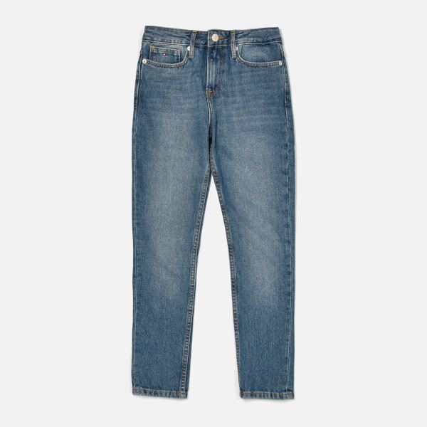 Tommy Hilfiger Girl's Izzy Slim Jeans - Authentic Mid Blue Rigid