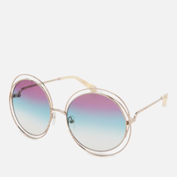 4e6fc87e39eb Chloe Women s Carlina Round-Frame Sunglasses - Gold Purple  Image 2