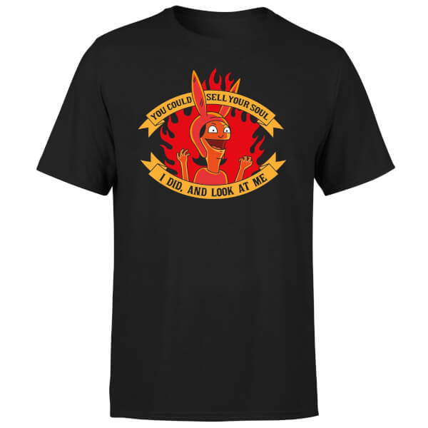 Bobs Burgers Sell Your Soul Men's T-Shirt - Black