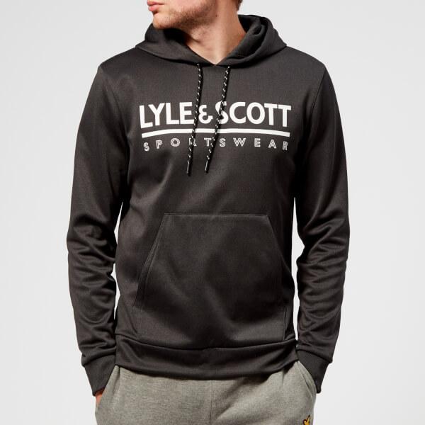 Lyle & Scott Sportswear Men's Cheviot Graphic Mid Layer Hoody - True Black Marl - Xl - Black