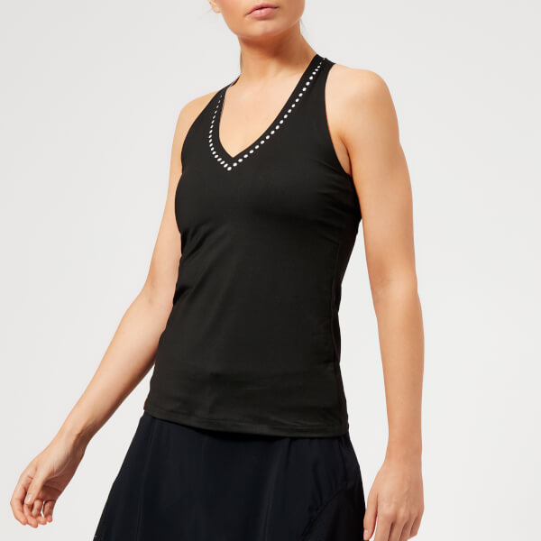 Monreal London Women's Essential V Neck Tank Top - White/Black
