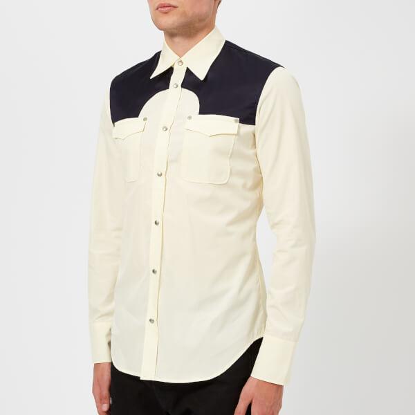 Maison Margiela Men's Cotton Poplin Western Shirt - Cream