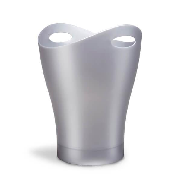 Umbra Garbino Can Wastepaper Basket - Glossy Silver