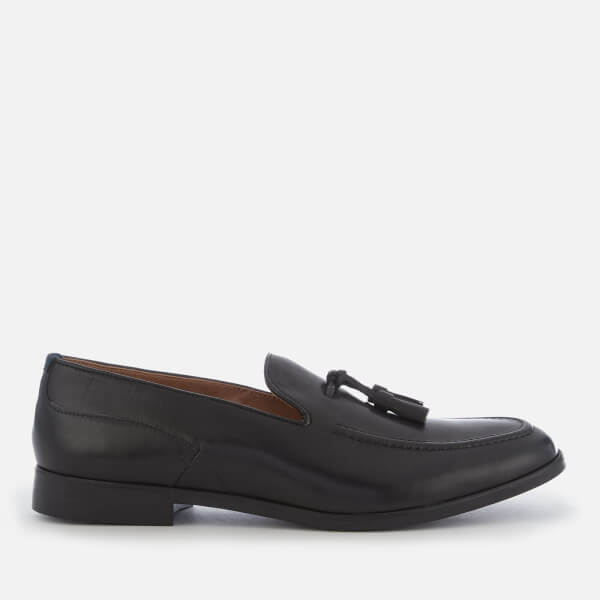 Hudson London Men's Aylsham Leather Tassle Loafers - Black