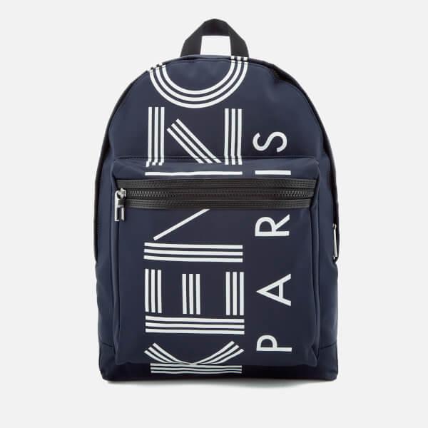 KENZO Men's Sport Logo Backpack - Navy Blue