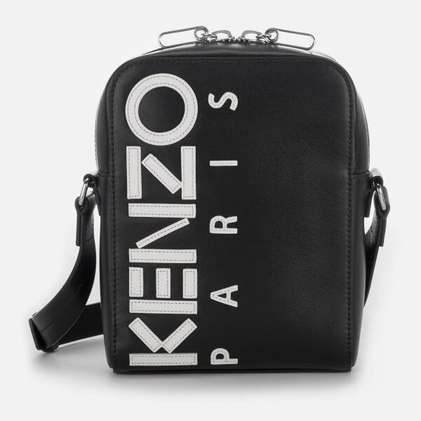 KENZO Men's Calfskin Cross Body Bag - Black