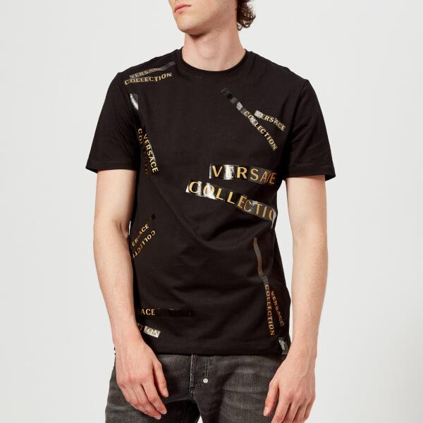 Versace Detail Black Tape Shirt T Men's Collection Clothing rtxRBwqTrZ