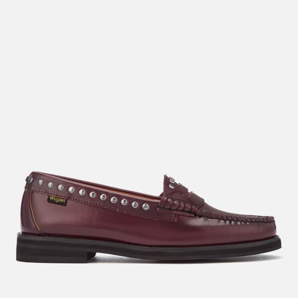 86b40e89495 Bass Weejuns Women s Winter Weejun Penny Stud Leather Loafers - Wine  Image  1