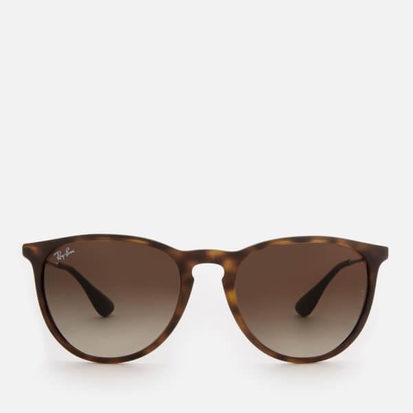57a43cddd2 Ray-Ban Erika Wayfarer Sunglasses - Rubber Havana - Free UK Delivery ...