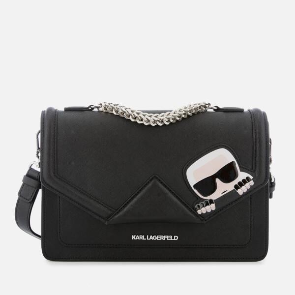 Karl Lagerfeld Women s K Ikonik Classic Shoulder Bag - Black  Image 1 bfdebe94d0a1f