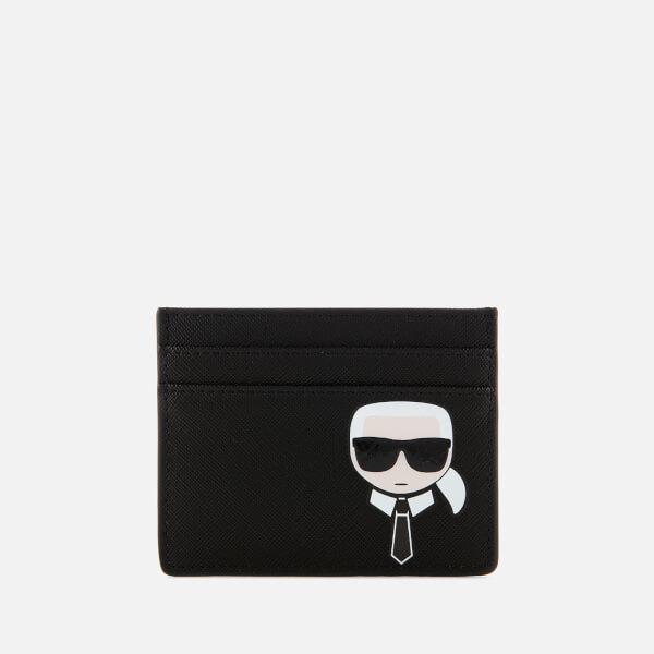 Karl Lagerfeld Women's K/Ikonik Card Holder - Black