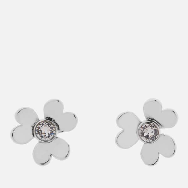 Ted Baker Women's Hansila: Heart Blossom Stud Earrings - Silver/Crystal