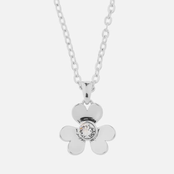 Ted Baker Women's Harpria: Heart Blossom Pendant - Silver/Crystal