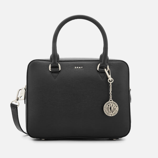 DKNY Women's Bryant Zip Satchel - Black/Gold