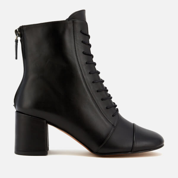 ba297af1c0c33 Whistles Women s Ruben Lace Up Block Heeled Boots - Black Clothing ...
