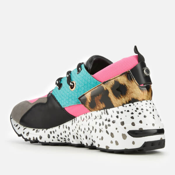 f195ec2ac98 Steve Madden Women s Cliff Running Style Trainers - Bright Multi  Image 2