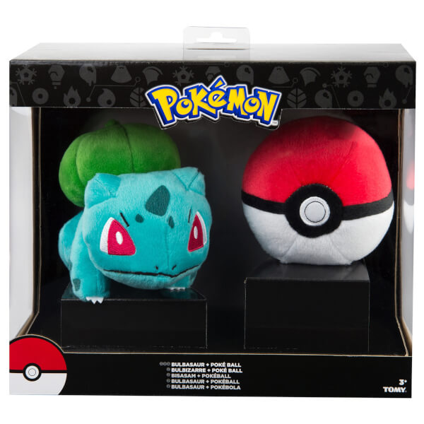 Pokémon Bulbasaur + Poké Ball Soft Toy