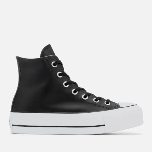 2a309e2fc1d Converse Women s Chuck Taylor All Star Lift Clean Hi-Top Trainers - Black  White