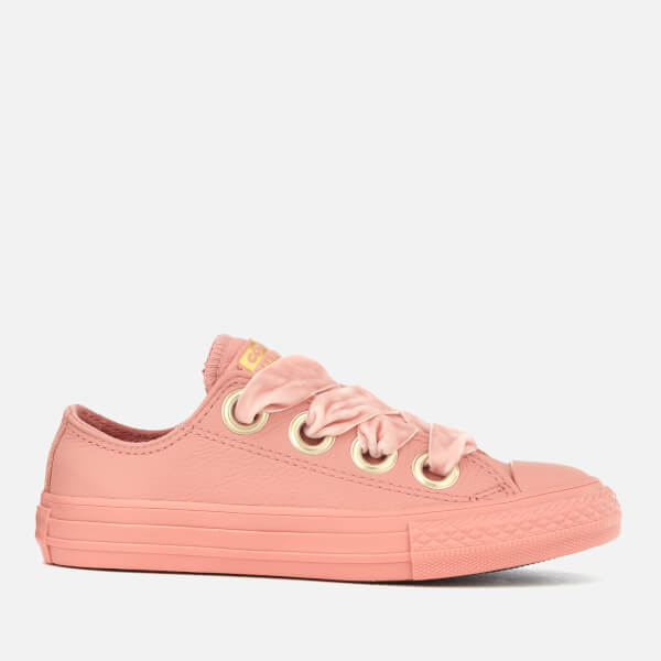 Converse Kids' Chuck Taylor All Star Big Eyelets Ox Trainers - Rust Pink