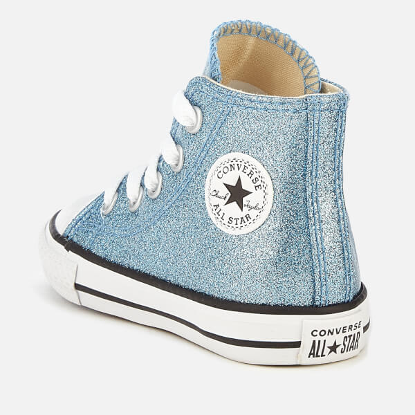 2f758389d541e8 Converse Toddlers  Chuck Taylor All Star Hi-Top Trainers - Light  Blue Natural White