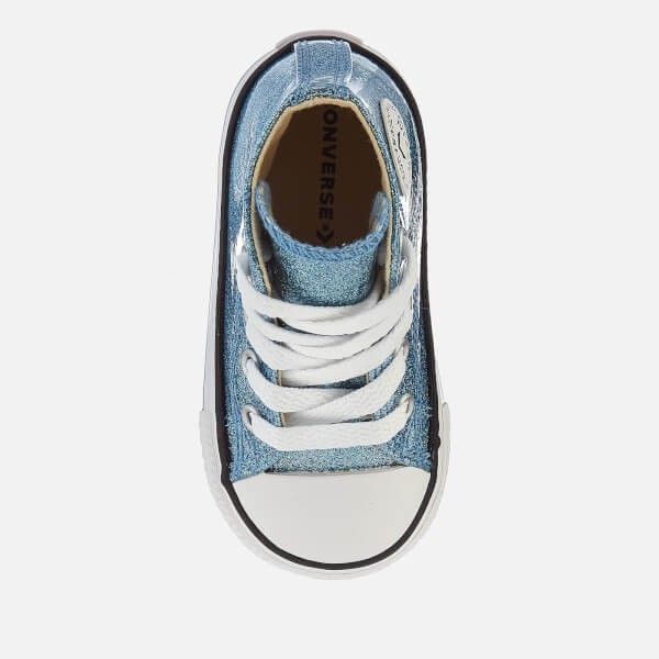 709dde5a050c9e Converse Toddlers  Chuck Taylor All Star Hi-Top Trainers - Light Blue  Natural