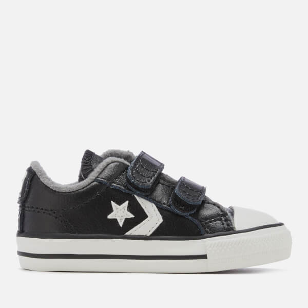 ffc1695b852222 Converse Toddlers  Star Player 2V Ox Trainers - Black Mason Vintage White