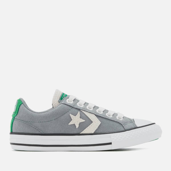 Converse Kids' Star Player Ox Trainers - Cool Grey/Green/White