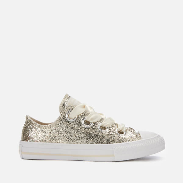 c2f86a57a9a Converse Kids  Chuck Taylor All Star Big Eyelets Ox Trainers - Natural Ivory  White