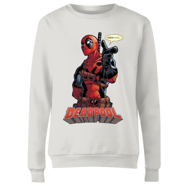Marvel Deadpool Hey You Women's Sweatshirt - White