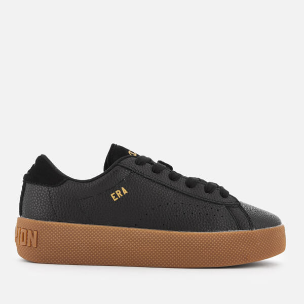 Champion Women's Era Leather Trainers - Black/Gum