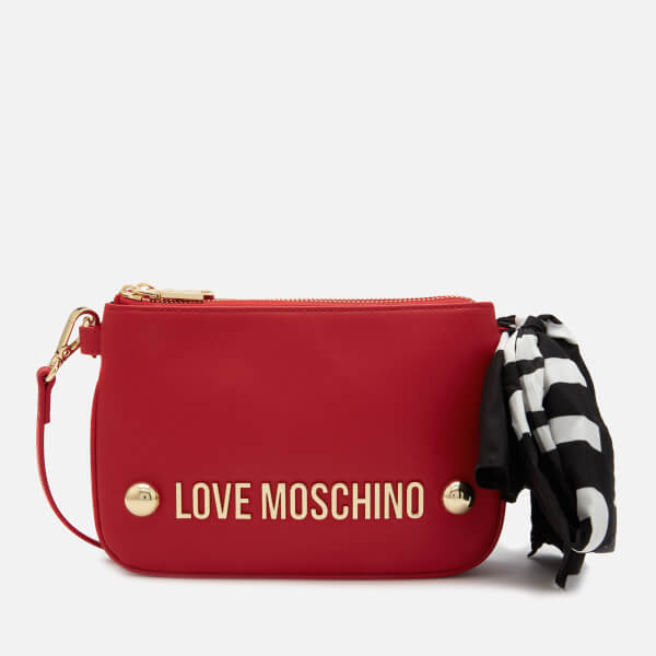 Love Moschino Women's Scarf Shoulder Bag - Red