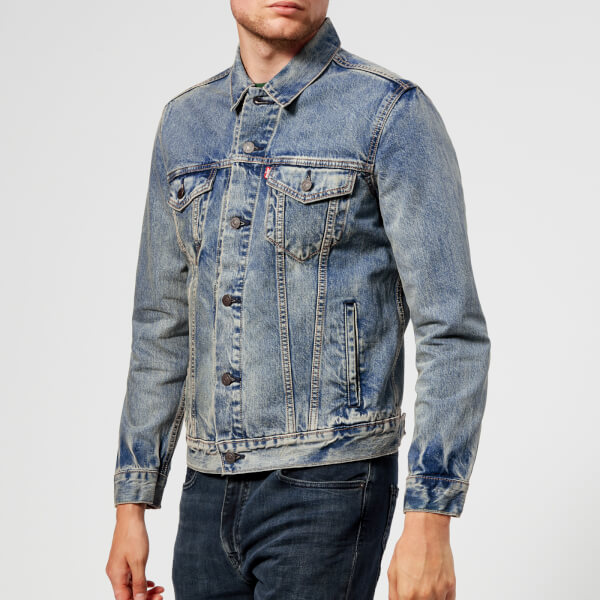 levi's men's the trucker jacket - danico - l - blue