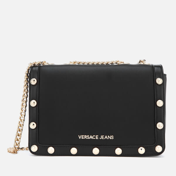 fc0623b5a98e Versace Jeans Women s Logo Chain Handle Cross Body Bag - Black  Image 1