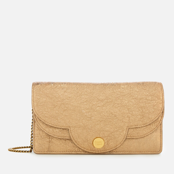 See By Chloé Women's Polina Glitter Clutch Bag - Sandy Brown