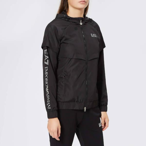 Emporio Armani EA7 Women's Light Hooded Jacket - Black