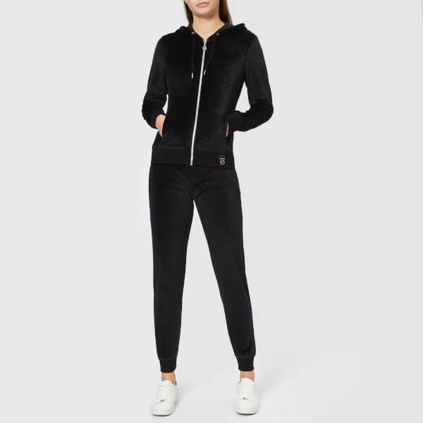 Emporio Armani EA7 Women's Train Velour Tracksuit - Black