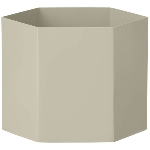 Ferm Living Hexagon Pot - Extra Large - Light Grey