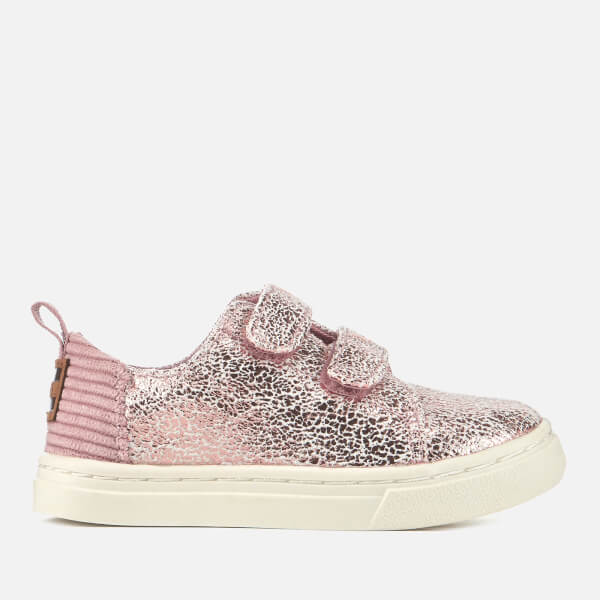 TOMS Toddlers' Lenny Crackle Foil/Corduroy Trainers - Lavender