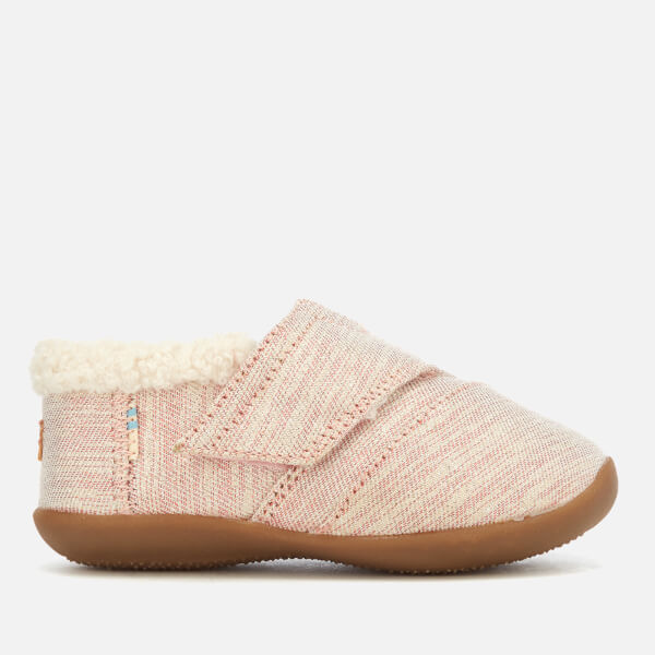 TOMS Toddlers' Metallic Twill Glimmer Slippers - Rose Cloud