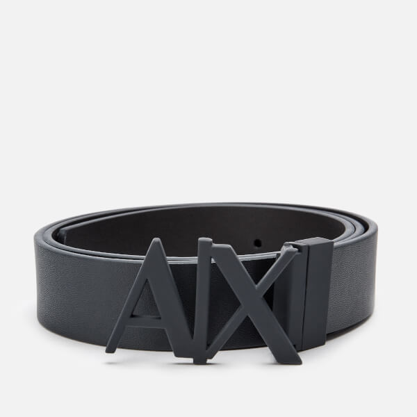 Armani Exchange Men's Leather Belt - Navy/Black Clothing | TheHut.com