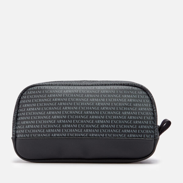 900f4b884268 Armani Exchange Men s All Over Print Wash Bag - Black  Image 1