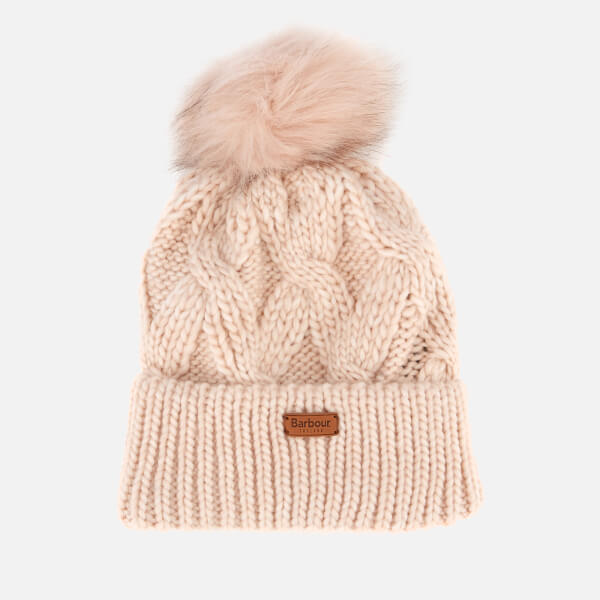 Barbour Women s Bridport Pom Beanie - Pink Womens Accessories ... 993261965d