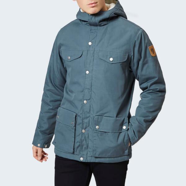 Fjallraven Men S Greenland Winter Jacket Grey Clothing Thehut Com