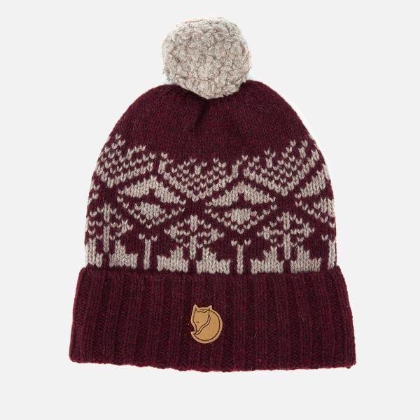 Fjallraven Men's Snow Ball Hat - Dark Garnet