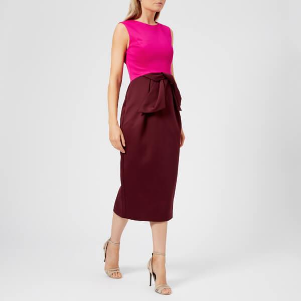 066d0dff45129f Ted Baker Women s Nikkita Contrast Tulip Bow Midi Dress - Purple  Image 1