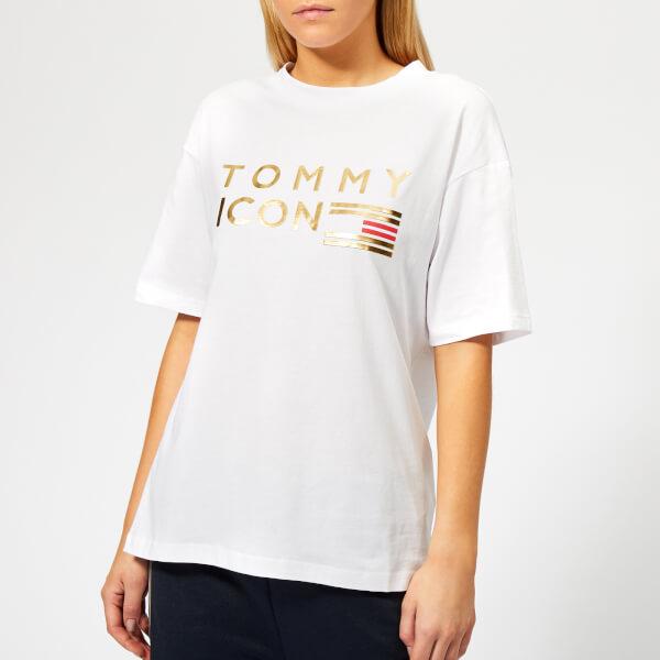 1fd632d84d5 Tommy Hilfiger Women s Icons Nellie Crew Neck T-Shirt - White Womens ...